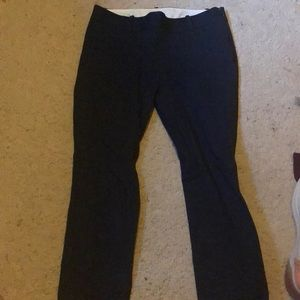 Navy dress pants, cropped
